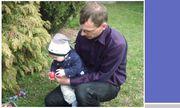 Sascha mit seinem Papa